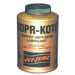 Jet-Lube - 10055 - Copper Anti-Seize Compound, -65°F to 1800°F, 4 oz., Copper