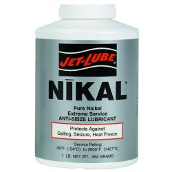 Jet-Lube - 13655 - Nikal 1/4 Lb Brush Top Ex Temp Anti-seize, Ea