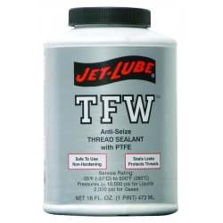 Jet-Lube - 24004 - 16 oz. Pipe Thread Sealant with 2000 psi, White