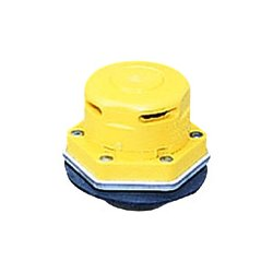 Justrite - 08005 - Justrite 2' X 2' HDPE Non-Metallic Vertical Dual Action Safety Drum Vent With Plated Steel Flame Arrester And Auto Vacuum Relief (For Petroleum Based Applications), ( Each )
