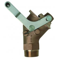 "Justrite - 08552 - Justrite 2"" Brass Self-Closing Drum Gate Valve With PTFE Seal (For Viscous Liquids)"