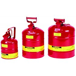 Justrite - 10101 - Justrite 1 Quart Red Galvanized Steel Type I Safety Can With 3-1/2' Stainless Steel Flame Arrester (For Flammables), ( Each )