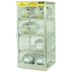 Justrite - 23004 - Justrite 60' X 49 1/2' X 32' Aluminum Horizontal 12 Cylinder Storage Locker With (2) Manual Close Doors And (4) Shelves (For Flammables), ( Each )