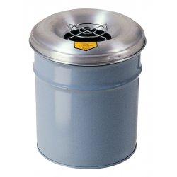 Justrite - 26555 - Waste Receptacle Head 55 Gal Cease-Fire 24 Aluminum Justrite, EA