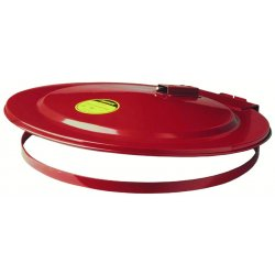 Justrite - 26730 - Drum Cover Self-Closing 30 Gal Steel 18 1/4 In Diameter Factory Mutual Approved Red Justrite Mfg Co., EA