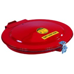 Justrite - 26752 - Drum Cover Manual W/Gskt 55 Gal Steel Factory Mutual Approved Red Justrite Mfg Co., EA