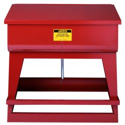 "Justrite - 27110 - Red Rinse Tank, Galvanized Steel, Floor Standing Mounting Type, 11 gal. Capacity, 8-3/4"" Height"
