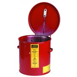 Justrite - 27603 - Red Cleaning/Dip Tank, Galvanized Steel, Benchtop Mounting Type, 3-1/2 gal. Capacity, 11-1/4 Height