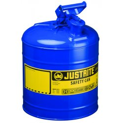 Justrite - 7120300 - Justrite 2 Gallon Blue Galvanized Steel Type I Safety Can With 3 1/2' Stainless Steel Flame Arrester And Self-Closing Lid (For Flammable Liquids), ( Each )