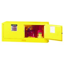 Justrite - 891300 - Flammable Safety Cabinet, 12 Gal., Yellow