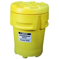 Justrite - 28201 - Justrite 31' X 43 1/4' Yellow Polyethylene Overpack And Salvage Drum With 95 Gallon Spill Capacity, ( Each )