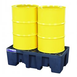 Justrite - 28234 - 2-drum 66-gal. Spill Control Pallet In-line Low, Ea