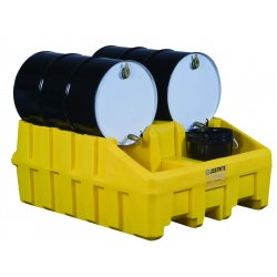Justrite - 28666 - Justrite 66 Gallon Yellow 100% Recycled Polyethylene Base Module (For EcoPolyBlend Drum Management System)