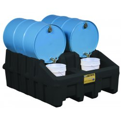 Justrite - 28667 - Justrite 66 Gallon Black 100% Recycled Polyethylene Base Module (For EcoPolyBlend Drum Management System), ( Each )