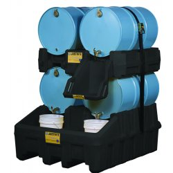 Justrite - 28668 - Justrite 66 Gallon Yellow Polyethylene Stack Module With Nylon Strapping (For EcoPolyBlend Drum Management System), ( Each )