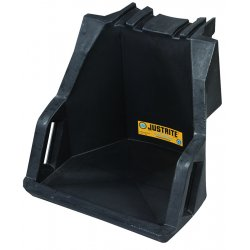"Justrite - 28671 - Justrite 19 1/2"" X 16 1/2"" X 18 3/4"" Black Polyethylene Dispensing Shelf (For EcoPolyBlend Drum Management System)"