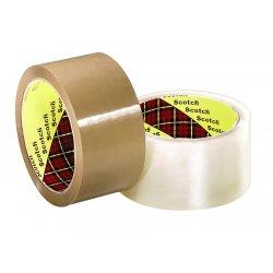 "3M - 371 - Box Sealing Tape, 48 mm x 100 m, 3"" Core, Clear, 36/Carton"