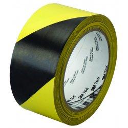 "3M - 02120043181 - 3M Hazard Marking Vinyl Tape - 2"" Width x 36 yd Length - Vinyl, Rubber - 4 mil - Polyvinyl Chloride (PVC) Backing - Flexible - 1 Roll - Black, Yellow"