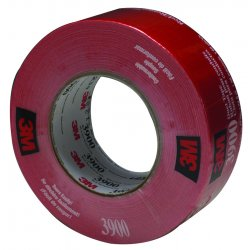 "3M - 02120049830 - 3M 3900 Duct Tape - 1.89"" Width x 59.93 yd Length - Polyethylene Backing - Moisture Resistant - Red"