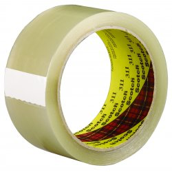 "3M - 311 - Scotch GiftWrap Tape - 0.75"" Width x 25 ft Length - Polypropylene Backing - Tear Resistant, Split Resistant, Abrasion Resistant, Moisture Resistant, Chemical Resistant - Dispenser Included - 3 Roll - Clear"