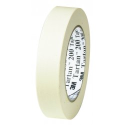 3M - 20024X55 - 3M 200 Paper Tape - 0.94 Width x 60 yd Length - 3 Core - Crepe Paper Backing - Easy Tear, Pressure Sensitive - 36 Roll - Tan