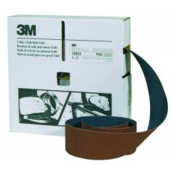 """3M - 051115-19791 - 3m Utility Cloth Roll 314d 1"""" X 50yd P100 Grit, Ea"""