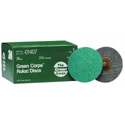 3M - 051131014077 - 3M 051131014077 1407 Green Corps Roloc Sanding...