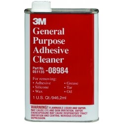 3M - 08984 - 3M General Purpose Adhesive Cleaner, Quart, 08984 - Liquid - 0.25 gal (32 fl oz) - 1 - Clear