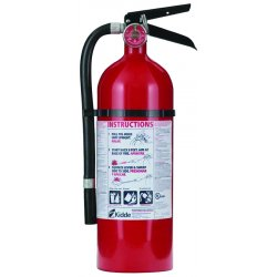 Kidde Fire and Safety - 21005779 - PRO210 - 2-A, 10-B:C, 4# - with Wall Hook, Rechargeable