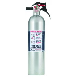 Kidde Fire and Safety - 21006287 - Kidde Fire 21006287 Disposable Fire Extinguisher with Metal Retention Strap Bracket, Silver