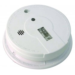 Kidde Fire and Safety - 21006379 - Kidde 120V AC/DC Wire-in Smoke Alarm - Ionize - Fire Detection - Wall Mount, Ceiling Mount - White