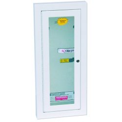 Kidde Fire and Safety - 468046 - Fire Extinguisher Cabinet Semi-Recessed 20.75 Hx11.75 Wx5 D White Kidde 5 Pound, EA