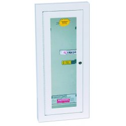 Kidde Fire and Safety - 468047 - Fire Extinguisher Cabinet Semi-Recessed 26.75 Hx11.75 Wx5.75 D White Kidde 10 Pound, EA