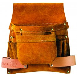 Klein Tools - 42241 - Brown Pouch, Split-Leather, Fits Belts Up To (In.): 3