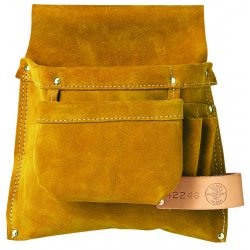 Klein Tools - 42246 - Brown Tool Pouch, Leather, Fits Belts Up To (In.): 3