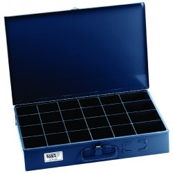 "Klein Tools - 54447 - Klein Tools 12"" X 18"" X 3"" Gray Extra Large Storage Box With (24) Compartmen"