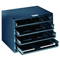 Klein Tools - 54474 - Klein 54474 4-Box Slide Rack - HxWxD: 11.75x15.25x10.75