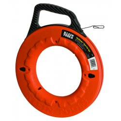 Klein Tools - 56004 - Klein Tools 1/8'' (3 mm) Wide Steel Fish Tape - 240' (73.15 m) - Orange - Steel, Polypropylene - 7.50 lb - Impact Resistant, Heavy Duty, Shock Resistant - 1