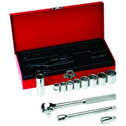 Klein Tools - 65504 - Klein Tools 3/8' 12 Piece Socket Wrench Set With (2) Extensions And Ratchet, ( Set )