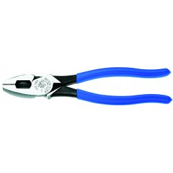 Klein Tools - D2000-9NETP - Klein Tools Model 2000 9 3/8' Tool Steel High Leverage Side Cutting Plier With 1 19/32' Jaw Length, New England Nose And Royal Blue Plastic Dipped Handle, ( Each )