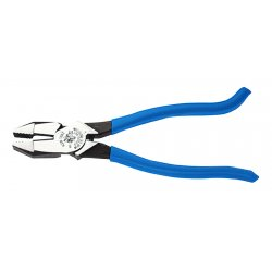 "Klein Tools - D2000-9ST - Iron Workers Plier, 9-3/8"" Overall Length, Handle Type: Dipped"
