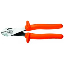 "Klein Tools - D248-8-INS - Angled High Leverage Diagonal Cutters, 8"" Overall Length, 1-3/16"" Jaw Width, 13/16"" Jaw Length, Insulate"