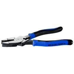 "Klein Tools - J2000-9NECR - Klein Tools 9'' (229 mm) Journeyman High-Leverage Side-Cutting Pliers - Connector Crimping - 9"" Length - Light Blue, Black - Steel - Comfortable Grip, Heavy Duty, Durable"
