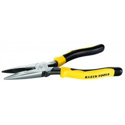 "Klein Tools - J2038 - Klein Tools Journeyman Heavy-Duty Long-Nose Pliers - 8.6"" Length - Yellow/Black - Steel - 10.08 oz - Comfortable Grip"