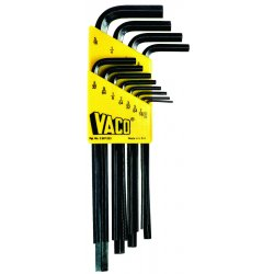 Klein Tools - LMK10 - Klein Tools 1.5mm - 10mm Alloy Steel 9 Piece L-Style Metric Hex Key Set, ( Each )