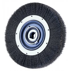 "Advance Brush - 81115 - 6"" Crimped Wire Wheel Medium Face .012 Cs Wire"