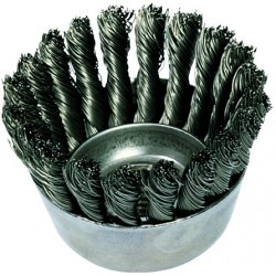 "Advance Brush - 82232 - 3-1/2"" Knot Wire Cup Brush .020 Cs Wire"