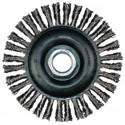 "Advance Brush - 82619 - 6-7/8"" Stringer Bead Knot Wheel .020 Ss Wire"