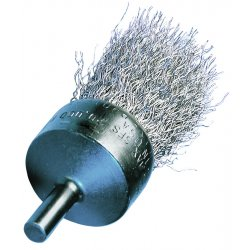 "Advance Brush - 82993 - 1"" Crimped Wire End Brush .010 Ss Wire"