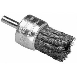 """Advance Brush - 83183 - 1"""" Knot Wire End Brush Coated Flared Cup .010 Ss"""